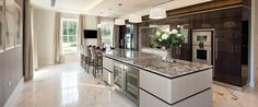 EXTREME Contemporary kitchen design in private mansion.