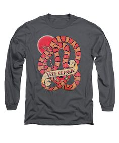 True Classic Cornsnake Long Sleeve T-Shirt in charcoal by Donovan Winterberg.  Other colors and shirt styles also available.