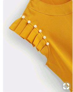 SheIn offers Pearl Beaded Pleated Blouse & more to fit your fashionable needs. SheIn offers Pearl Beaded Pleated Blouse & more to fit your fashionable needs. Kurti Sleeves Design, Sleeves Designs For Dresses, Kurti Neck Designs, Sleeve Designs, Blouse Designs, Dress Sewing Patterns, Blouse Patterns, Sewing Sleeves, Diy Clothes