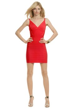 Hervé Léger Totally Worth It Dress - You'll be the center of attention all night in this red hot Herve Leger - save this one for a special occasion!