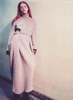 Kate Moss backstage at Maison Martin Margiela, Fall 1992