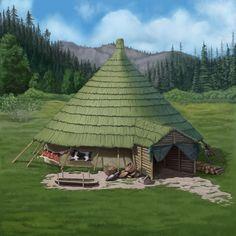 Celtic roundhouse by Vetal Skif on ArtStation