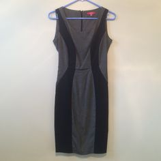 XOXO Dress Gray and black form fitting dress. Size 5/6 XOXO Dresses