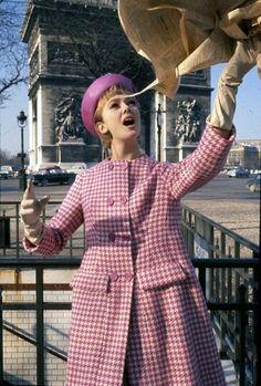 Model Ina Balke in Paris, ELLE  France March 1962