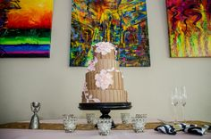 Pink and sassy- Kate Spade inspired wedding at the Hyatt Regency Greenville by B & R Events Chocolate buttercream wedding cake with blush sugar flowers by Couture Cakes