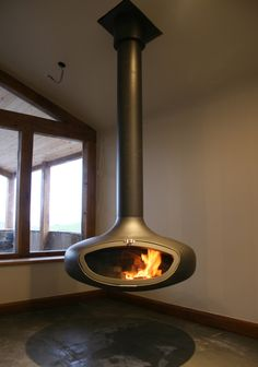 Another example of a great looking suspended stove here