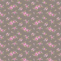 Tilda Winter Memories Fabric - Mini Rose Grey Brown