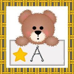 Oh my Alfabetos!: Alfabeto de ositos con estrella.