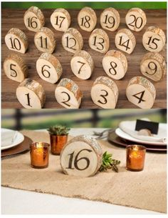 Wood Table Numbers 1-20