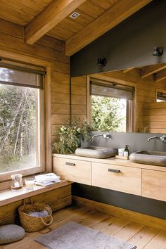 45 Most Popular Bathroom Designs for 2019 – Perfect Home Ideas Cabin Interiors, Rustic Interiors, Bathroom Layout, Bathroom Ideas, Bathroom Mirrors, Wood Bathroom, Bathroom Organization, Bathroom Interior, Dream Bathrooms