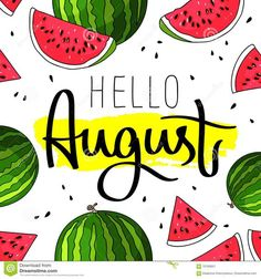 Hello Summer inscription on the background of watermelon. Vector illustration on white background. Smear of yellow ink. Bullet Journal August, Bullet Journal Planner, Bullet Journal Writing, Bullet Journal Ideas Pages, Bullet Journal Inspiration, Journal D'inspiration, Journal Themes, Journal Covers, Journals