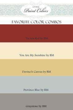Color Combinations for Tucson Red | Favorite Paint Colors Blog
