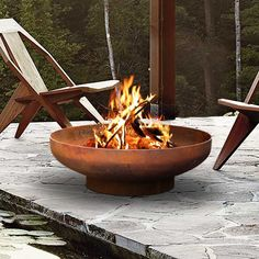 Camping Fire Pit, Fire Pit Backyard, Fire Pit Bowl, Fire Bowls, Build A Fireplace, Fireplace Ideas, Fire Pit Uses, Outdoor Fire, Outdoor Decor