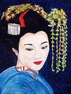 Geisha Paintings | Geisha Painting by Emmanuel Turner - Geisha Fine Art Prints and ...