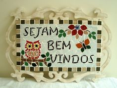 quadro-sejam-bem-vindos-quadro-mosaico