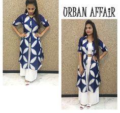 Urban affair# Pallazo love # 2 looks # tye and dye # fashion