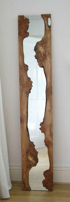 Mirroir bois flotté - objet deco bois guirlande bois flotté                                                                                                                                                                                 Plus
