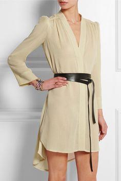 Isabel Marant|Rivera belted voile mini dress|NET-A-PORTER.COM