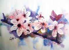 Fleurs de cerisier .Laurence Mbayo