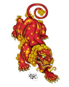 Japanese Lion Tattoo Designs and Ideas Japanese Tattoo Symbols, Japanese Tattoo Art, Japanese Tattoo Designs, Japanese Sleeve Tattoos, Asian Tattoos, Dog Tattoos, Tattoo Cat, Foo Dog Tattoo Design, Japanese Foo Dog