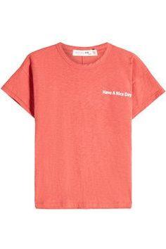 RAG & BONE - Have A Nice Day T-Shirt Orange Fashion, Pop Fashion, Fashion Design, Shop Rags, Rag And Bone, Tshirts Online, Neck T Shirt, Cotton, Mens Tops
