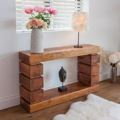 Quadrate Oak Console Table
