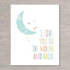 nursery prints & graphics: to the moon - rainboww