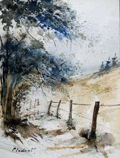 "Saatchi Art Artist Pol Ledent; Painting, ""watercolor 061106"" #art"