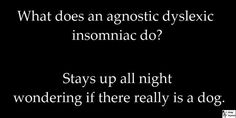 dyslexic agnostic insomniac   Found on fbcdn-sphotos-a.akamaihd.net