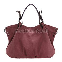 Women Canvas Casual Big Handbag Shoulder CrossBody Bags via Fashion Spell. Click on the image to see more!