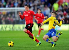 Andrew Taylor and Jack Wilshere