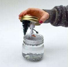 schneekugel basteln olaf der schneemann glas