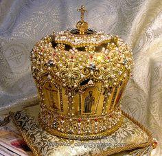 Goldwork Orthodox mitre by Oleg Blazhko.
