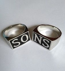 Online Shop Free shipping!Sons of Anarchy Men's Rings (There are two colors supply) Aliexpress Mobile