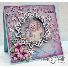 Heartfelt Creations - Snowman Shaker Card Project