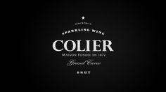 Colier Sparkling wine Identity wine branding design