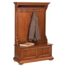 Home Styles Homestead Mission/Shaker Distressed Oak Hall Tree at Lowe's. Home Styles Homestead Hall Tree is constructed of hardwood solids and veneers in a rich distressed nutmeg finish. Design includes crown molding top with Entryway Hall Tree, Entryway Coat Rack, Entryway Storage, Entryway Organization, Entryway Furniture, Furniture Decor, Living Room Furniture, Entryway Bench, Retro Furniture