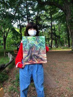 井の頭公園で描き描き   守時はるひ Park, Artwork, Work Of Art, Auguste Rodin Artwork, Parks, Artworks, Illustrators