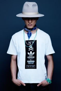 It's not the outfit so much as the styling and the photo; adidas Originals by NEIGHBORHOOD 2014 Fall/Winter Lookbook