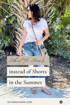 Don't like shorts? Here's what to wear instead. I rounded up a bunch of casual alternatives to shorts for you to consider this summer! There are some great fashion tips and tricks in this post for women over 40 that prefer to have more wardrobe options for the spring and summer. Casual Dresses, Casual Outfits, Fashion Over 40, Fashion Tips, Spring Wedding, Pretty Dresses, What To Wear, Alternative, T Shirts For Women