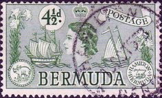 Bermuda 1953 Queen Elizabeth SG 142 Sea Venture Fine Used SG 142 Scott 151 Other British Commonwealth Empire and Colonial stamps Here