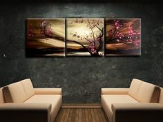 Asian Zen Hand-Painted Wall Art, Oil Painting, Ready to Hang, 3 piece for only $159.00