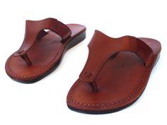 SALE ! New Leather Sandals T STRAP Men's Shoes Thongs Flip Flops Flat Slides Slippers Biblical Bridal Wedding Colored Footwear Designer by Sandalimshop on Etsy