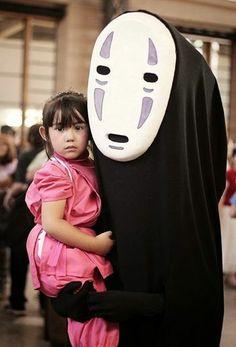 No Face Chihiro cosplay
