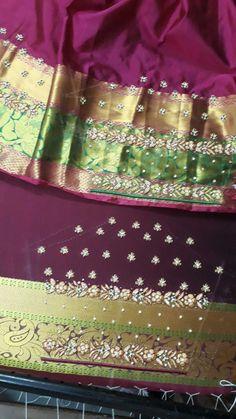Hand Work Blouse Design, Hand Designs, Blouse Designs, Sequin Skirt, Stitching, Sequins, Bridal, Fashion, Costura