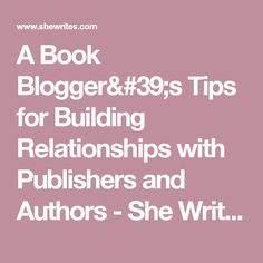 A Book Blogger's Tip