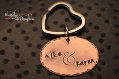 Personalized Hand Stamped Key Chain  Rustic by MotherDaughterJewel, $22.00