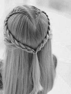heart braid. cute valentines idea #Artsandcrafts