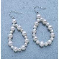 Pearl Hoop Dangles from The Pearl Girls