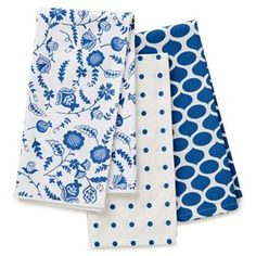 After many fruitless shopping trips, the search for blue tea towels may be over...